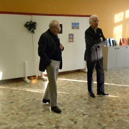 Il Dr. Toschi e il Dr. Szego introducono la festa