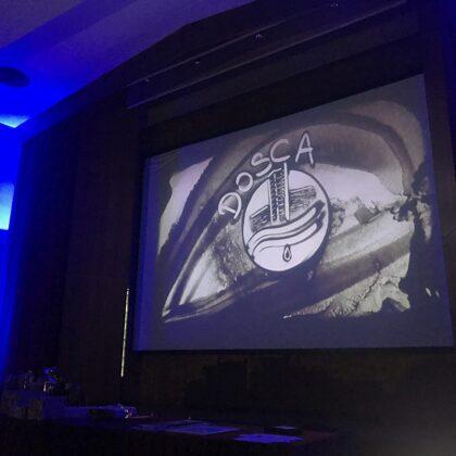 Il nostro logo disegnato con la sabbia