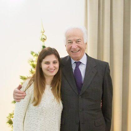 Il Presidente Szego con Gloria, segretaria di DO.S.CA.