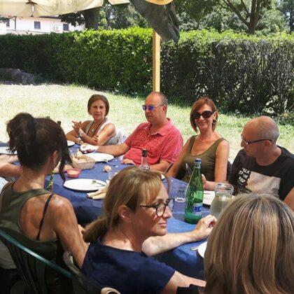 I donatori pranzano insieme