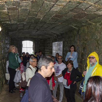All'interno delle gallerie del forte